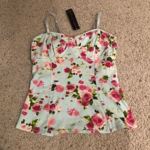 Floral corset style cami
